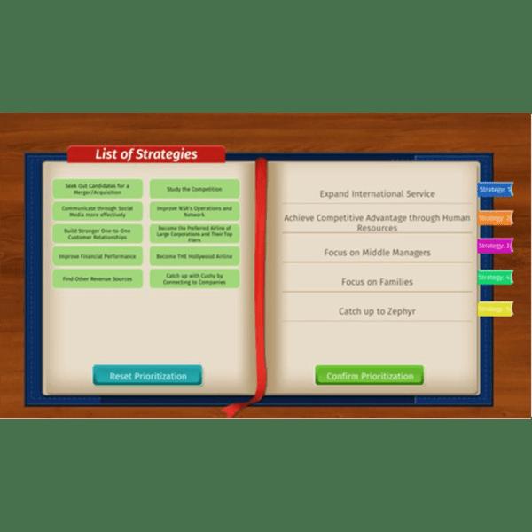 individual simulation screen Peregrine Global Services